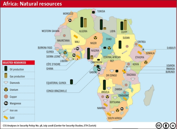 resources in africa map