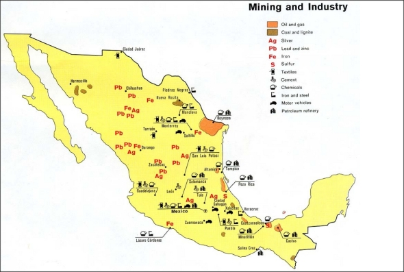 Mexico Resources Mining & Industry Map