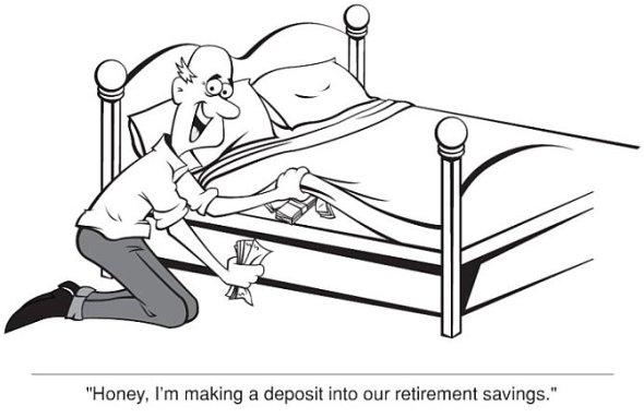 Financial Cartoon - No Option?